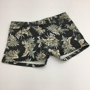 🌴 Cotton On Palm Print Denim Jean Shorts Size 8